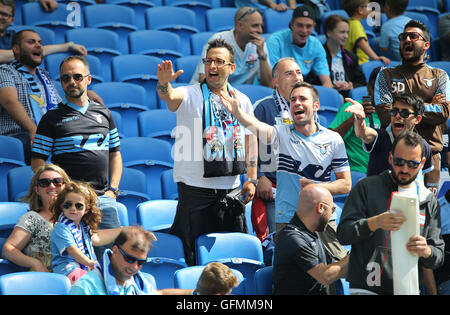 American Express Stadium, Brighton, Great Britain. 31st July 2016. Lazio fans during a Pre-Season friendly match. - Stock Photo