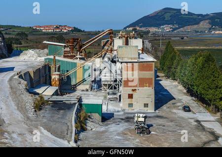 Cement factory in Escalante, Cantabria, Spain - Stock Photo