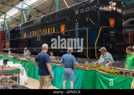 Railroad Museum of Pennsylvania Strasburg PA - Stock Photo