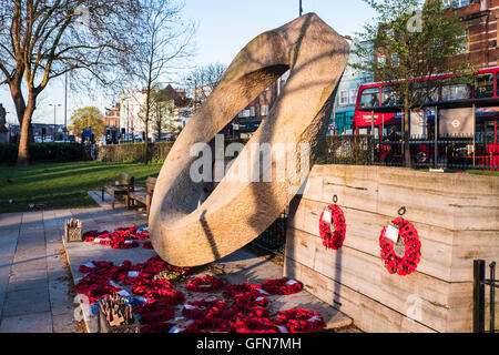 War Memorial, Islington Green, London, England, U.K. - Stock Photo