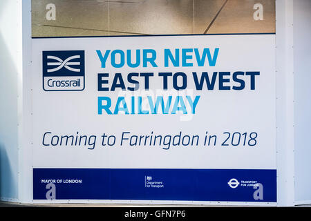 Farringdon Station, London, England, U.K. - Stock Photo