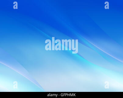 Abstract blue curved motion background - Stock Photo