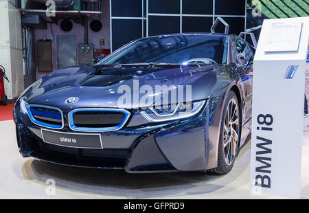BMW i8 electric powered performance vehicle - Stock Photo