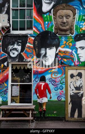 Graffiti art in Brighton Stock Photo