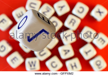 Square Root Symbol On The Face Of Alphabet Dice Dorset England