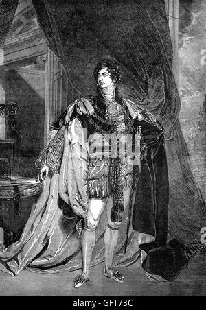 George IV (George Augustus Frederick (1762 – 1830) was King of the United Kingdom of Great Britain and Ireland and - Stock Photo
