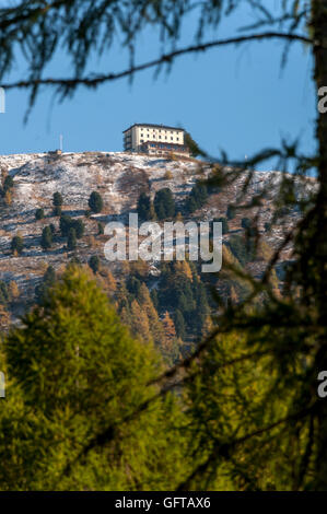 The Hotel Weisshorn at St Luc in the Val D'Anniviers in the Valais Canton of Switzerland - Stock Photo