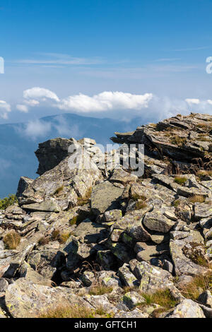 The view from the top of the mountain Babia Gora, National Park, Poland, Europe. - Stock Photo