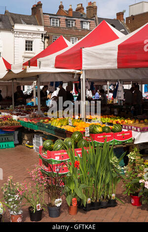 Fruit Stall In Garden Square Shopping Centre Letchworth Garden City Stock Photo Royalty Free