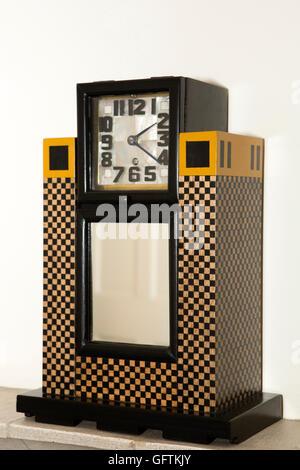 UK, England, Northamptonshire, Northampton, 78 Derngate, Charles Rennie Mackintosh design clock - Stock Photo