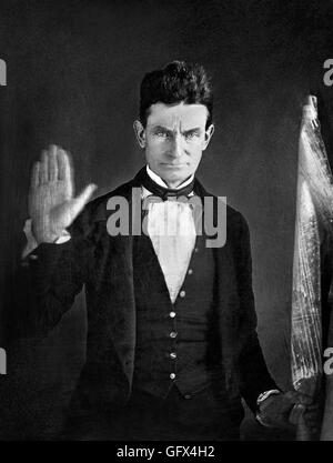 The American abolitionist, John Brown (1800-1859). Daguerrotype by Augustus Washington, c.1846-1847 - Stock Photo