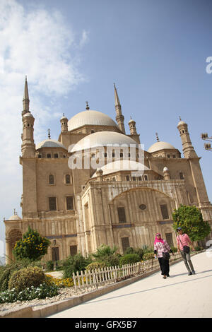 The great Mosque of Muhammad Ali Pasha or Alabaster Mosque is a mosque situated in the Citadel of Cairo in Egypt - Stock Photo