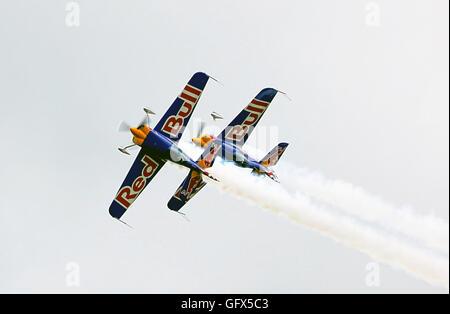 Matadors Aerobatic team.close-Formation precision - Stock Photo