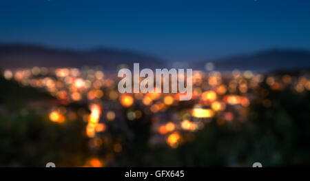 Blur image of Marmaris scenery for background usage - Stock Photo