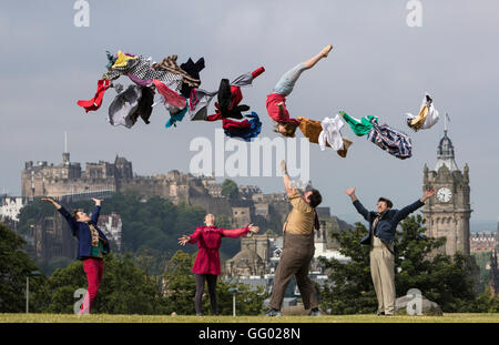 Edinburgh, Scotland, UK. 2nd August, 2016. Thrillingly spectacular circus skills blend seamlessly with charm, physical - Stock Photo