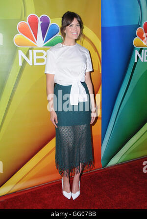 Beverly Hills, CA, USA. 2nd Aug, 2016.  Mandy Moore. 2016 NBCUniversal Summer Press Tour held at the Beverly Hilton - Stock Photo