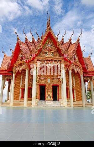 Tiger Cave Temple or Wat tham sua in Kanchanaburi, Thailand - Stock Photo