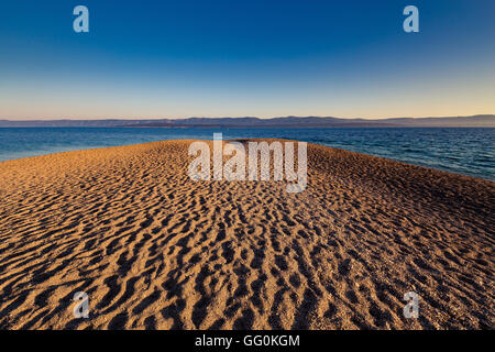 Zlatni Rat beach. Bol, island Brac, Croatia. - Stock Photo
