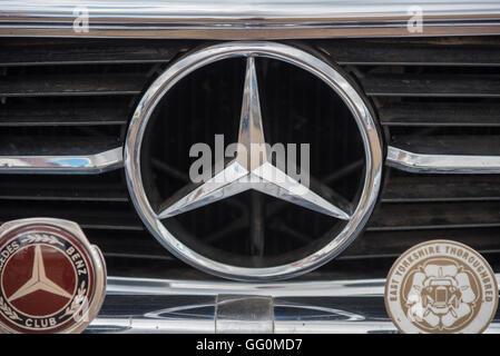 Mercedes car badge - Stock Photo