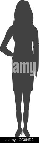 business woman icon - Stock Photo