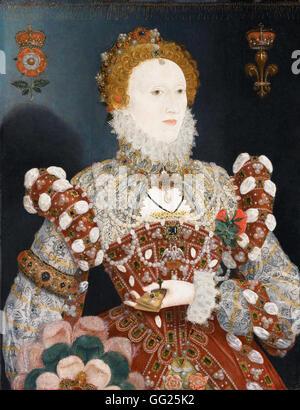Nicholas Hilliard (called) - Portrait of Queen Elizabeth I - Stock Photo