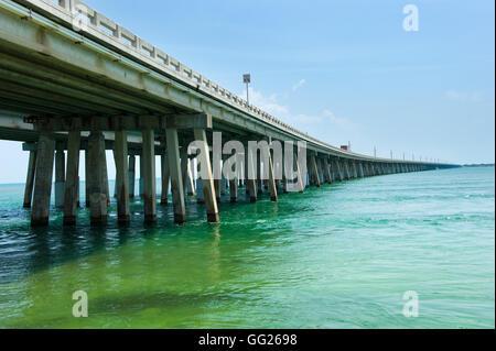 Highway 1 on the Florida Keys - Stock Photo