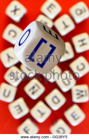 Square Brackets Symbol On An Alphabet Tile Dorset England Britain