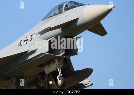 German Air Force EF2000 Eurofighter from landing during the exercise Frisian Flag. - Stock Photo