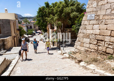 Street to Fortezza, Venetian Castle of Rethymno, Crete, Greece - Stock Photo