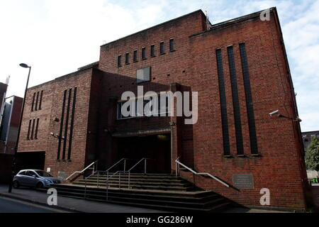 The Manchester Reform Synagogue, in Jackson's Row, Central Manchester, UK. - Stock Photo