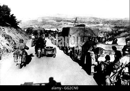 German troops arriving in Yugoslavia April 1941 Yugoslavia, Second World War war - Stock Photo