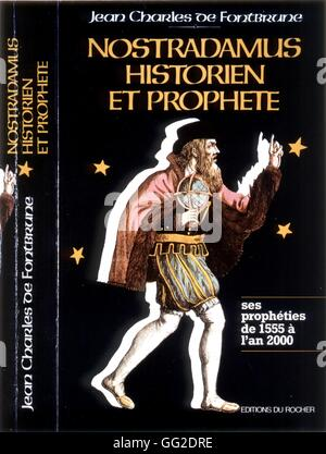 Nostradamus (1503-1566) Cover of a book published at 'Les Editions du Rocher' ('Rocher publishing house') France - Stock Photo