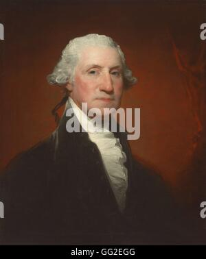 Gilbert Stuart American school Portrait of George Washington 1795 Oil on canvas (73.8 x 61.1 cm) Washington, National - Stock Photo