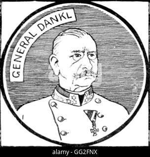 Première Guerre Mondiale. Portrait of Count Viktor Dankl von Krasnik(1854-1941), Austrian General. - Stock Photo