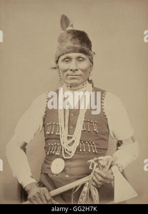 Standing Bear (Montchou-Naji), Chief of the Omaha Tribe and highly skilled fighter. He's 42, is married and has - Stock Photo
