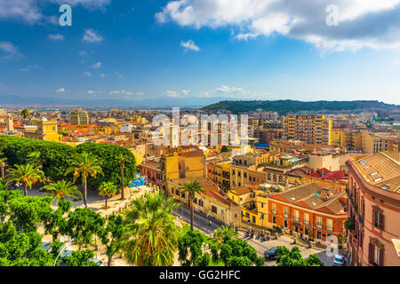 Cagliari, Sardinia, Italy old town cityscape. - Stock Photo