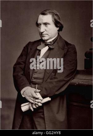 Ernest Renan (1823-1892), french writer, philosopher and historian Photo by Adam-Salomon - Stock Photo
