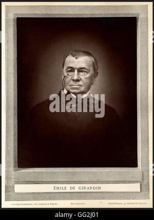 Portrait of Émile de Girardin (1802-1881),  french politician and journalist - Stock Photo