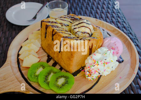 honey toast - Stock Photo