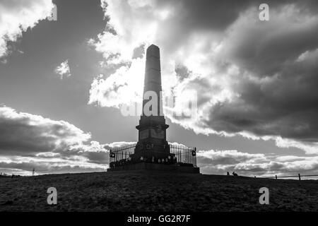 Cenotaph Werneth Low Country Park.Built in tribute to the 710 local men who died in WW1, unveild 25th June 1921 - Stock Photo