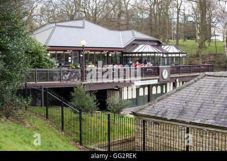 The Cafe Waterloo, Lake Roundhay Park, Leeds,  Yorkshire, UK - Stock Photo