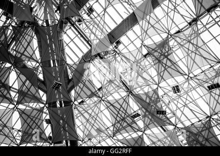 Eco roof inside St Enoch Shopping retail shopping centre,  Glasgow - Stock Photo