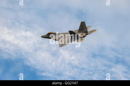 Lockheed Martin F-22A Raptor, USAF, FF AF 09181, at the Royal International Air Tattoo 2016 - Stock Photo