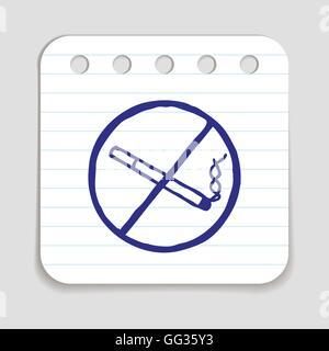 No smoking doodle icon. - Stock Photo