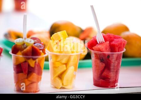 Fruits street selling in Cartagena de Indias - Stock Photo