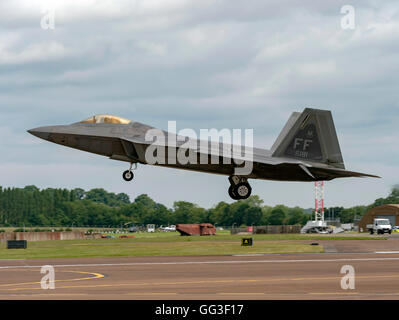 Lockheed Martin F-22A Raptor, USAF, FF AF 09181 at the Royal International Air Tattoo - Stock Photo