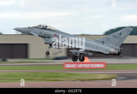 Eurofighter F-2000A 36-32, Italian Air Force, at the Royal International Air Tattoo - Stock Photo