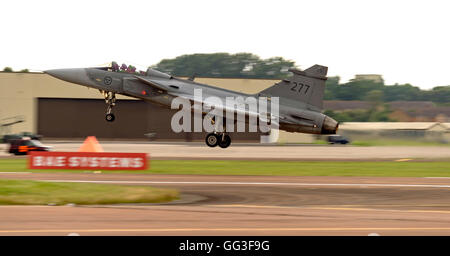 SAAB JAS 39C Gripen, 277, Swedish Air Force, RIAT 2016 - Stock Photo