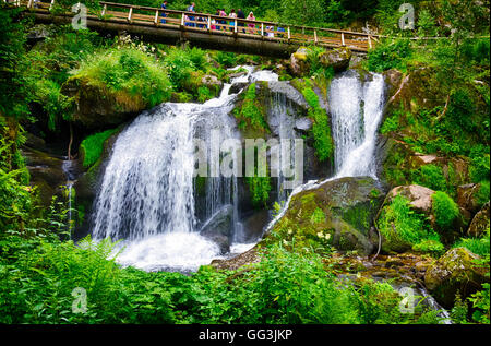 The highest waterfalls in Germany, Triberg - Stock Photo