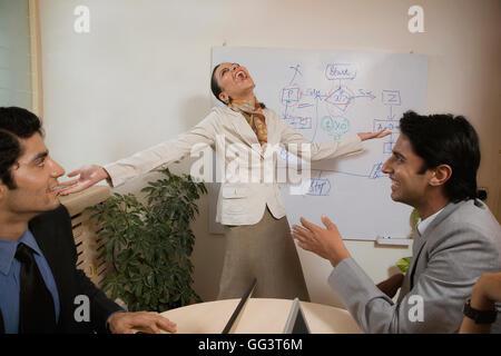 Executives at a meeting - Stock Photo